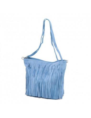 Geanta Piele Naturala Ogoky baby blue