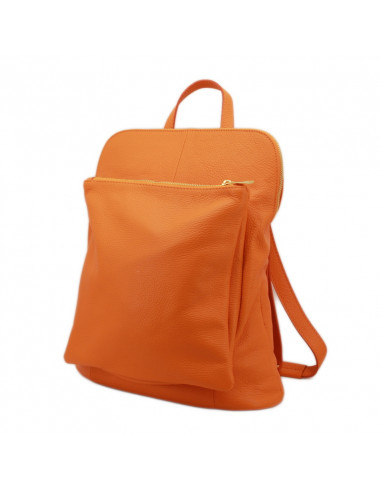 Rucsac Piele Naturala Venture orange